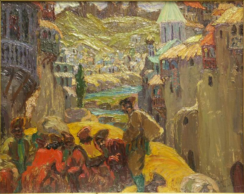 oil on cardboard, 59x48, 1917 Georgian National Museum
