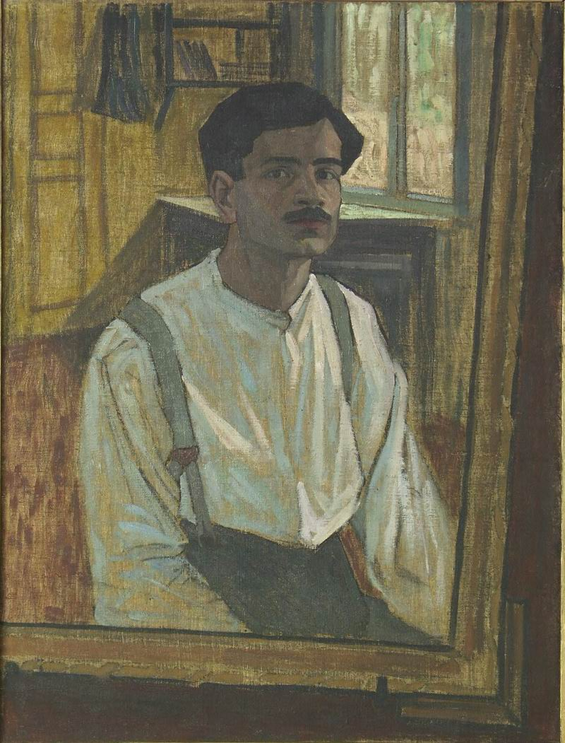 oil on canvas, 99x71, 1913;               Georgian National Museum