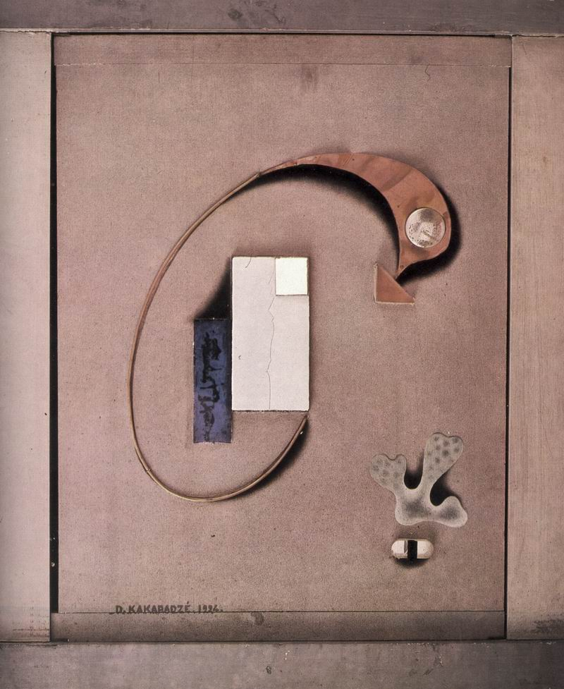 Wood, glass, metal, tempera, 61X46, 1924