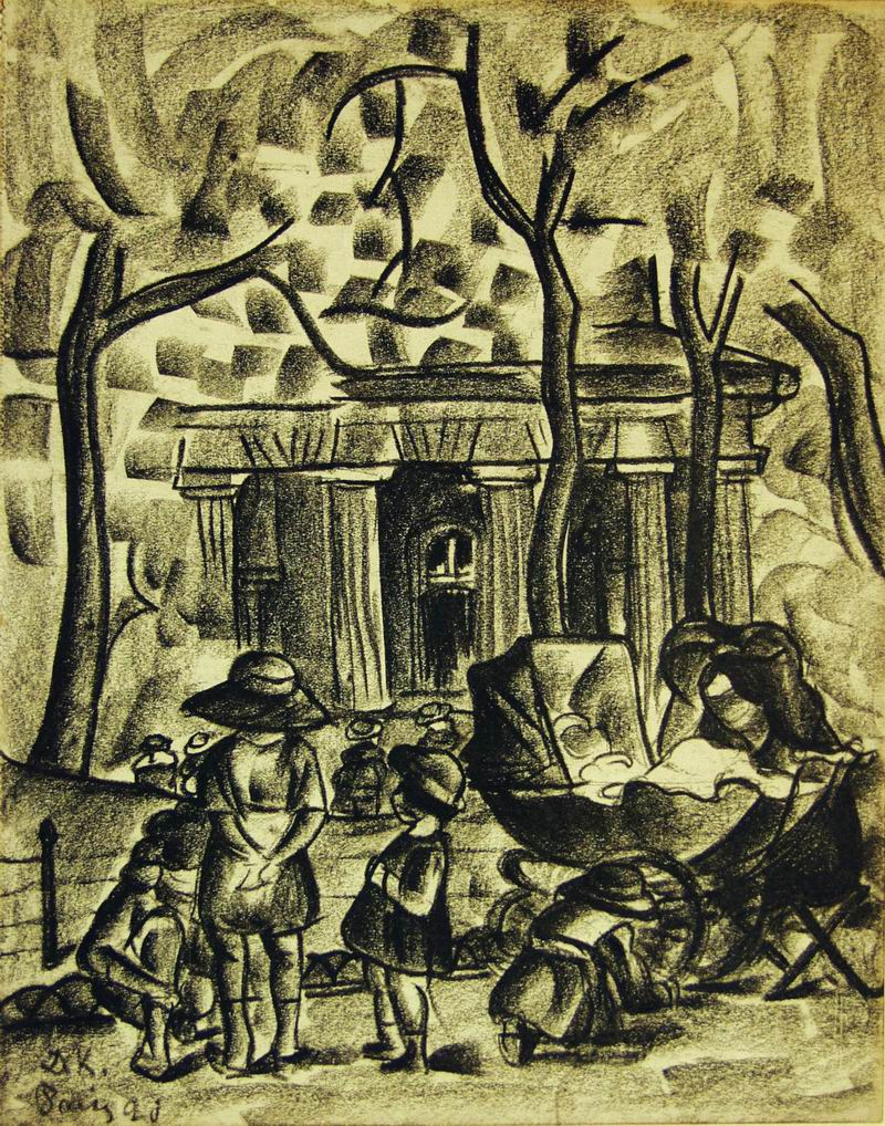 1920, charcoal and pencil on paper, 23X18,5