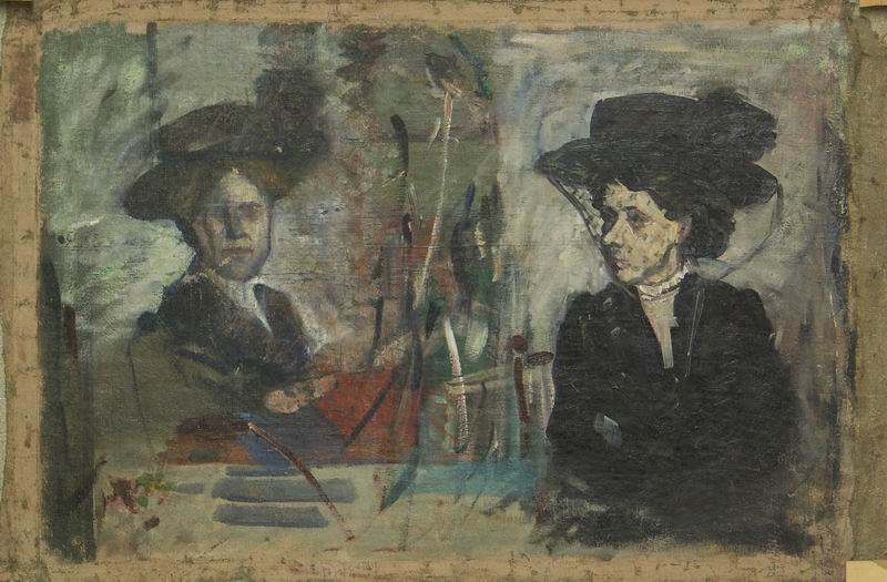 oil on canvas 70x48, 1910s. Georgian National Museum
