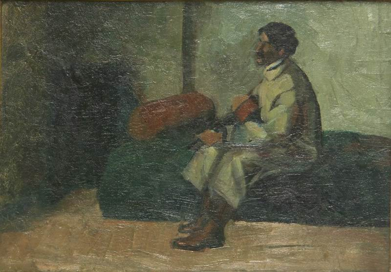 oil on a cardboard 33x49 (Munich period) Georgian National Museum