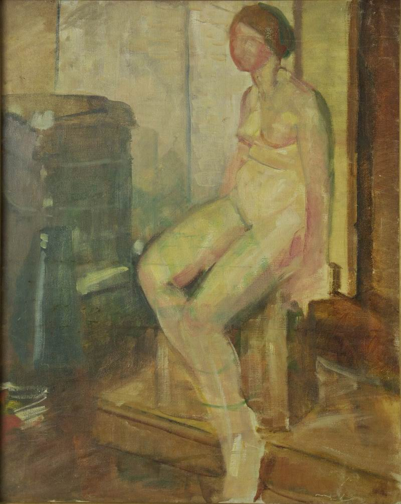 oil on canvas, 94X75, 1920s Georgian National Museum
