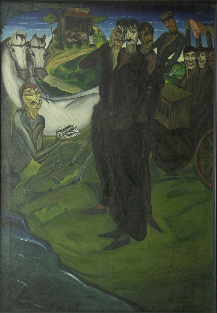 oil on canvas, 177X114, 1920 Georgian National Museum