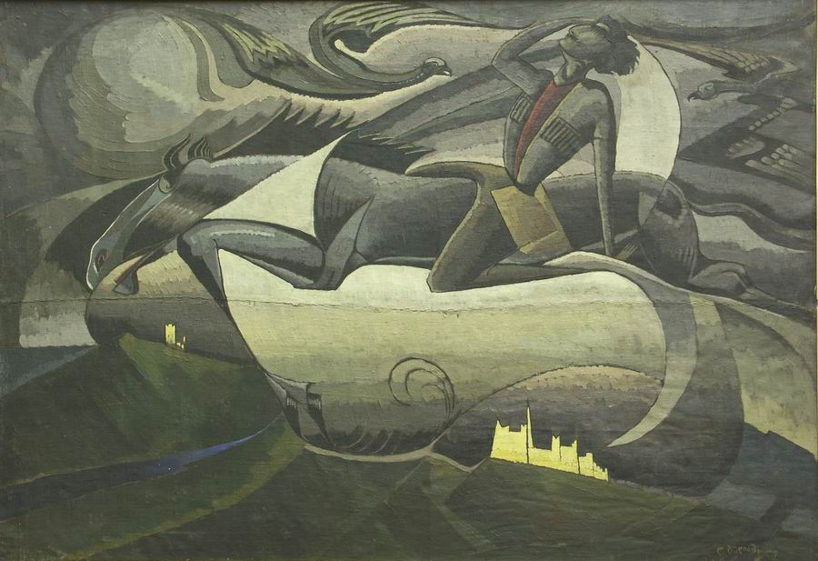 oil on canvas, 107X154, 1918 Georgian National Museum
