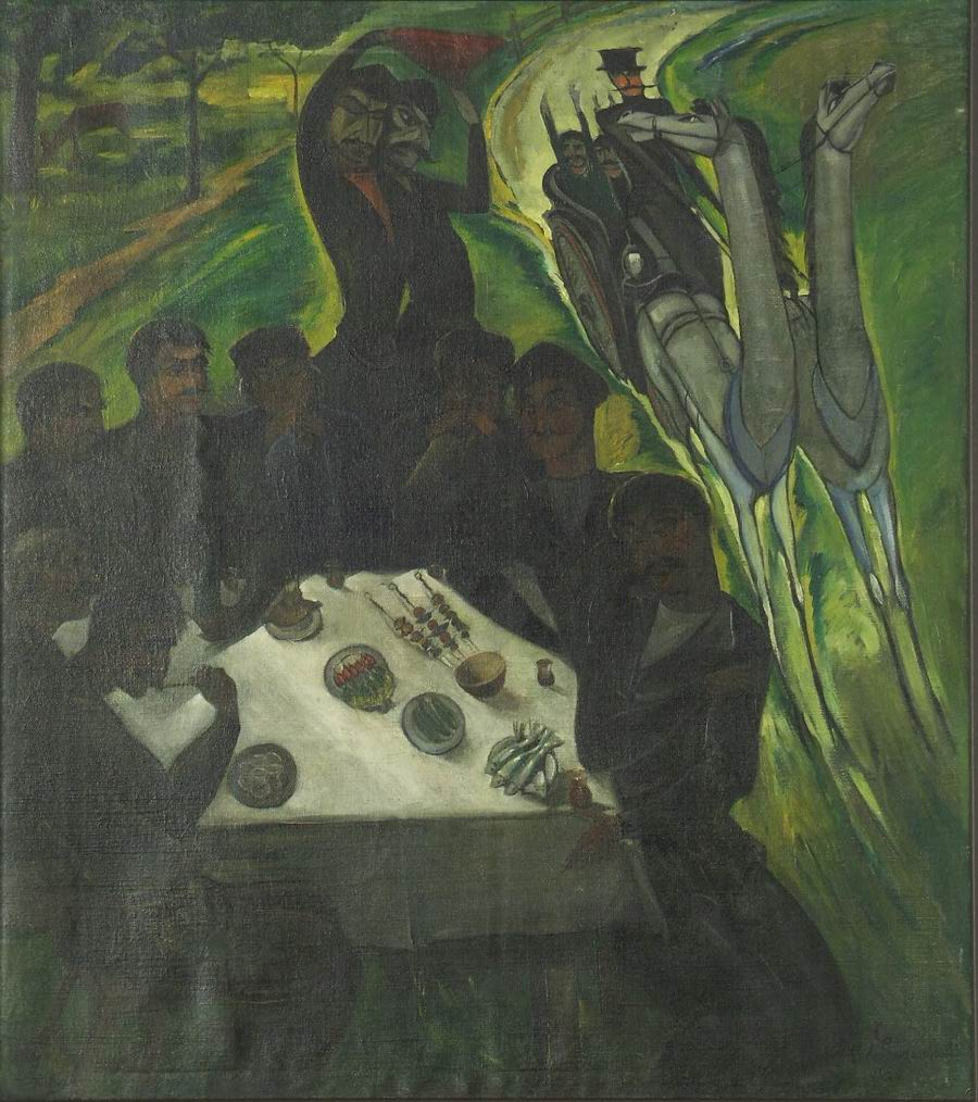 oil on canvas, 79X70, 1920 Georgian National Museum