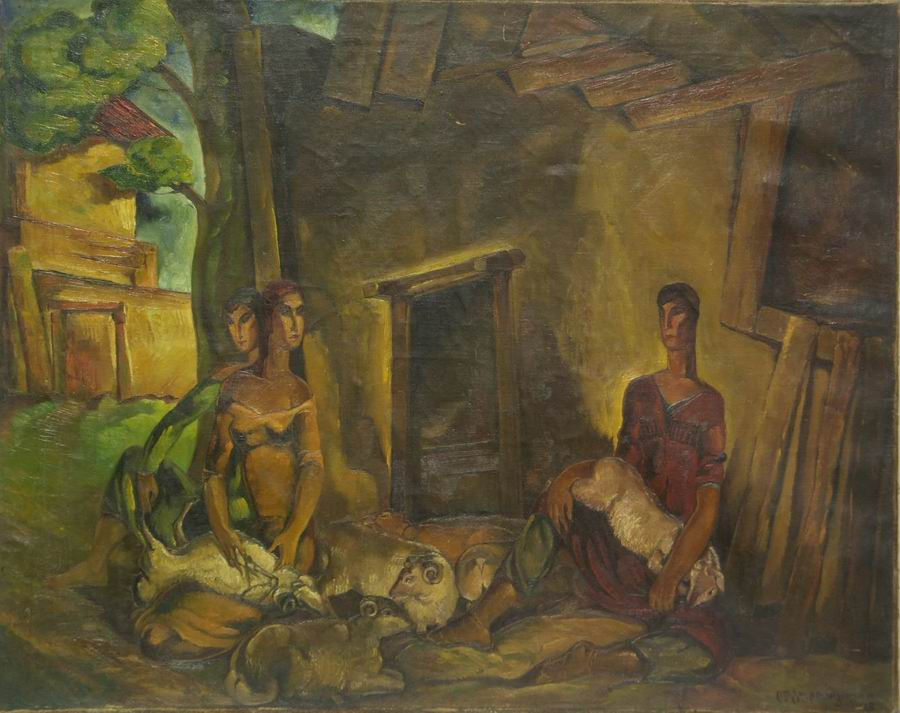 oil on canvas, 75X95, 1928 Georgian National Museum