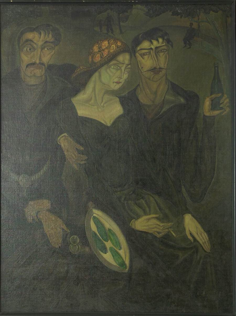 oil on canvas, 137X104, 1919 Georgian National Museum