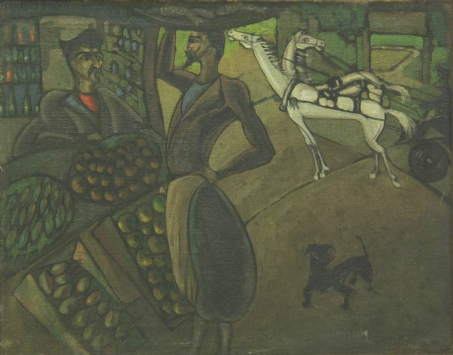 oil on canvas, 177X114, 1919 Georgian National Museum