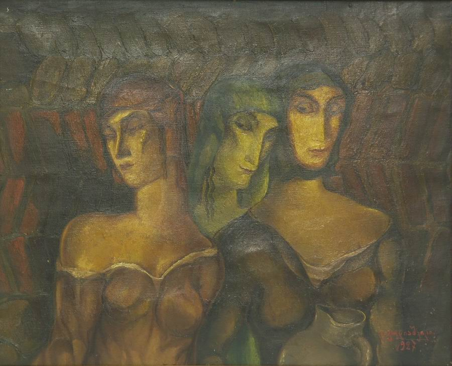 oil on canvas, 45X39, 1927 Georgian National Museum