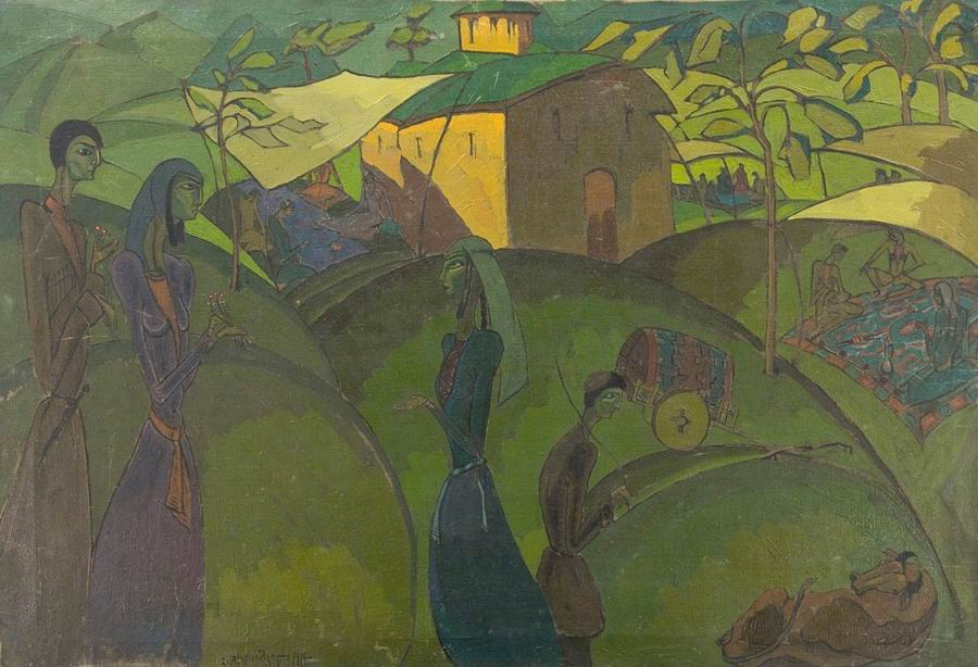 oil on canvas, 104X70, 1919 Georgian National Museum