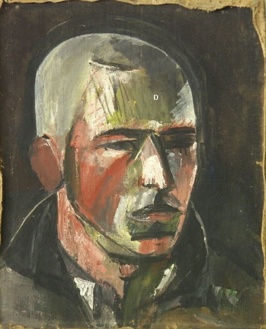 oil on canvas, 45x37, 1929 Georgian National Museum