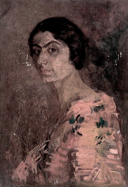oil on canvas, 70x49, 1920s, Georgian National Museum