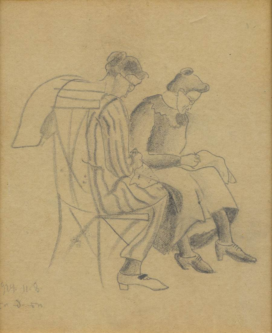 pencil on paper,14,5x12 Paris, 1924