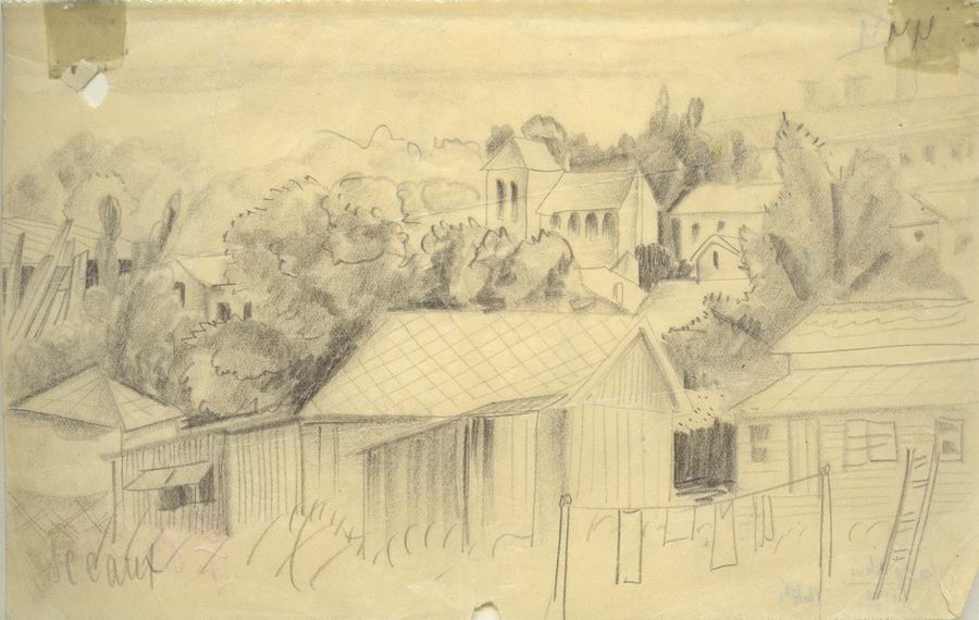 Pencil on cardboard, 11,5x18, Paris 1925
