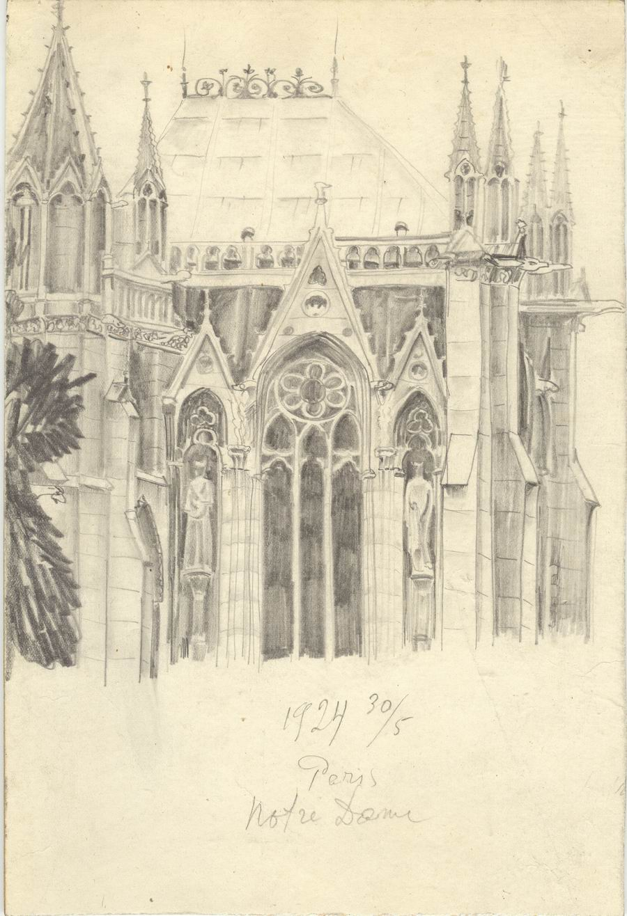 pencil on cardboard, 26,5x18, Paris 1924