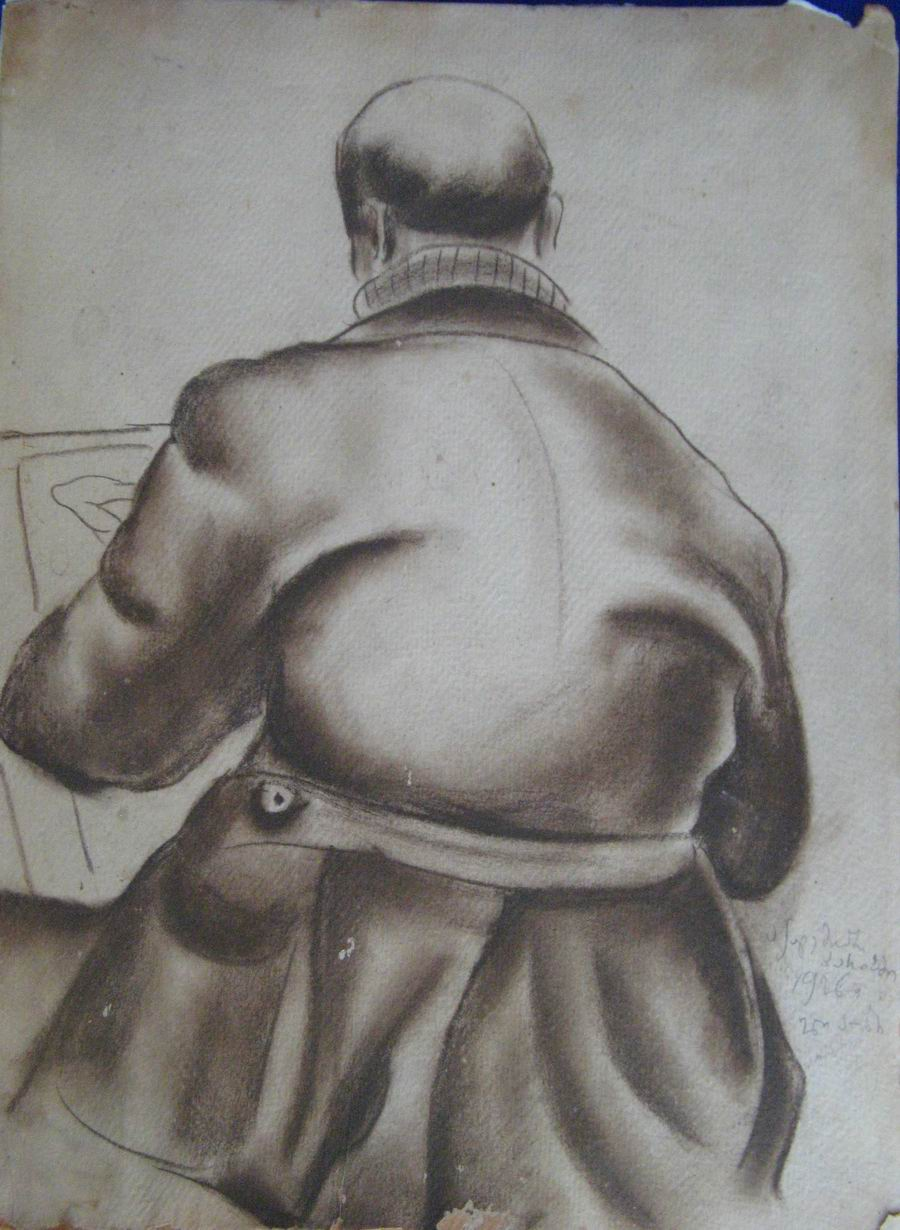 charcoal on cardboard 38,3X27, Paris 1926