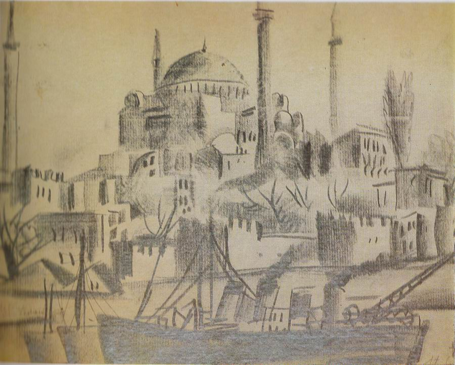 pencil on paper, 28x20, Istanbul 1924