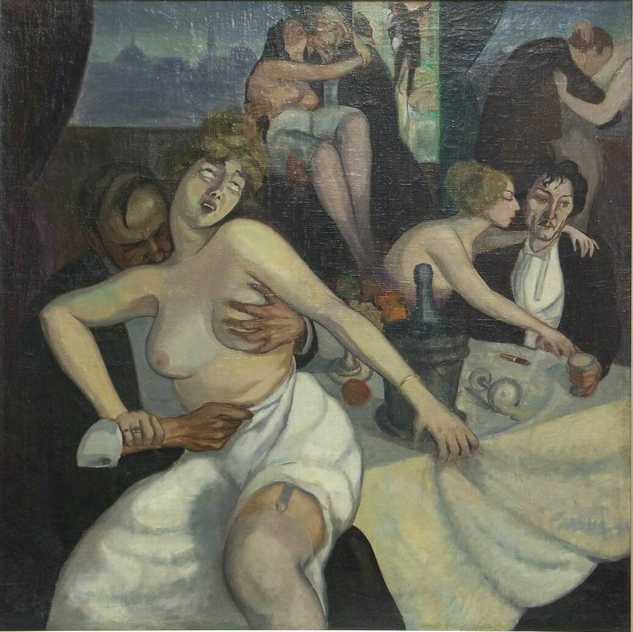 oil on canvas, 88X88, 1920, Georgian National Museum