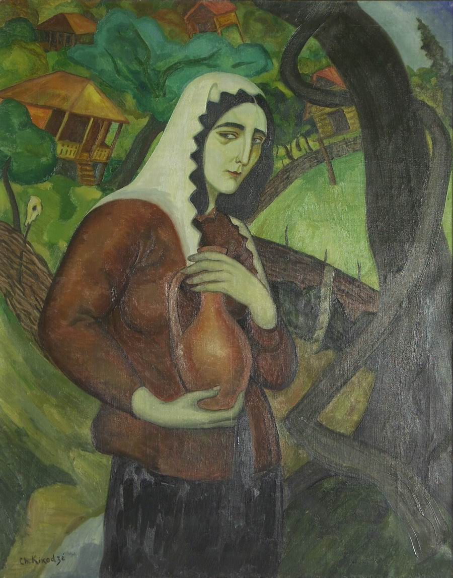oil on canvas, 92X73, 1921, Georgian National Museum