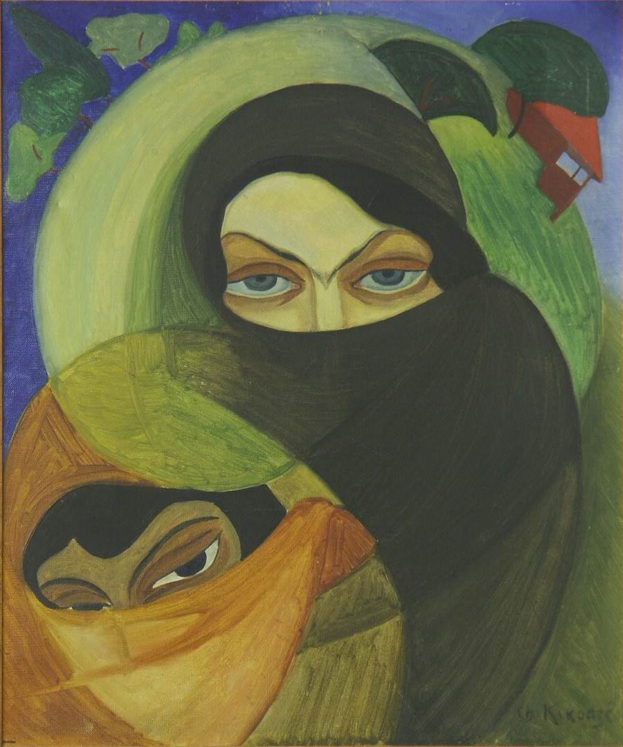 oil on canvas, 55X46, 1921, Georgian National Museum