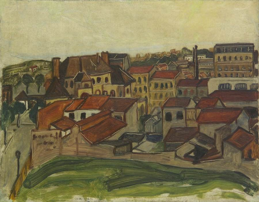 oil on cardboard, 32X41,5, 1920, Georgian National Museum