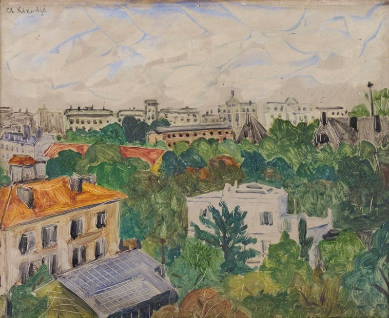 oil on cardboard, 32X40, 1920, Georgian National Museum