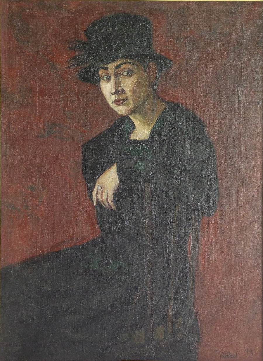 oil on canvas, 102X76, 1918, Georgian National Museum