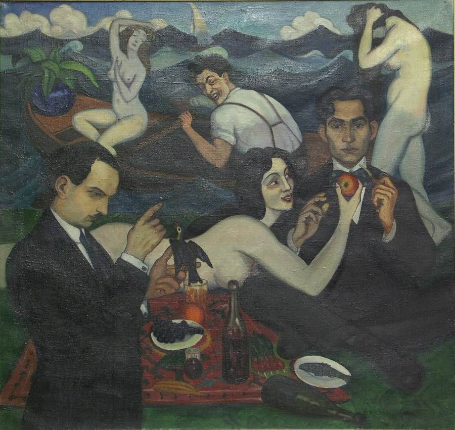 oil on canvas, 96X101, 1920, Georgian National Museum