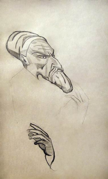 Grotesques pencil on paper, 1918-1921