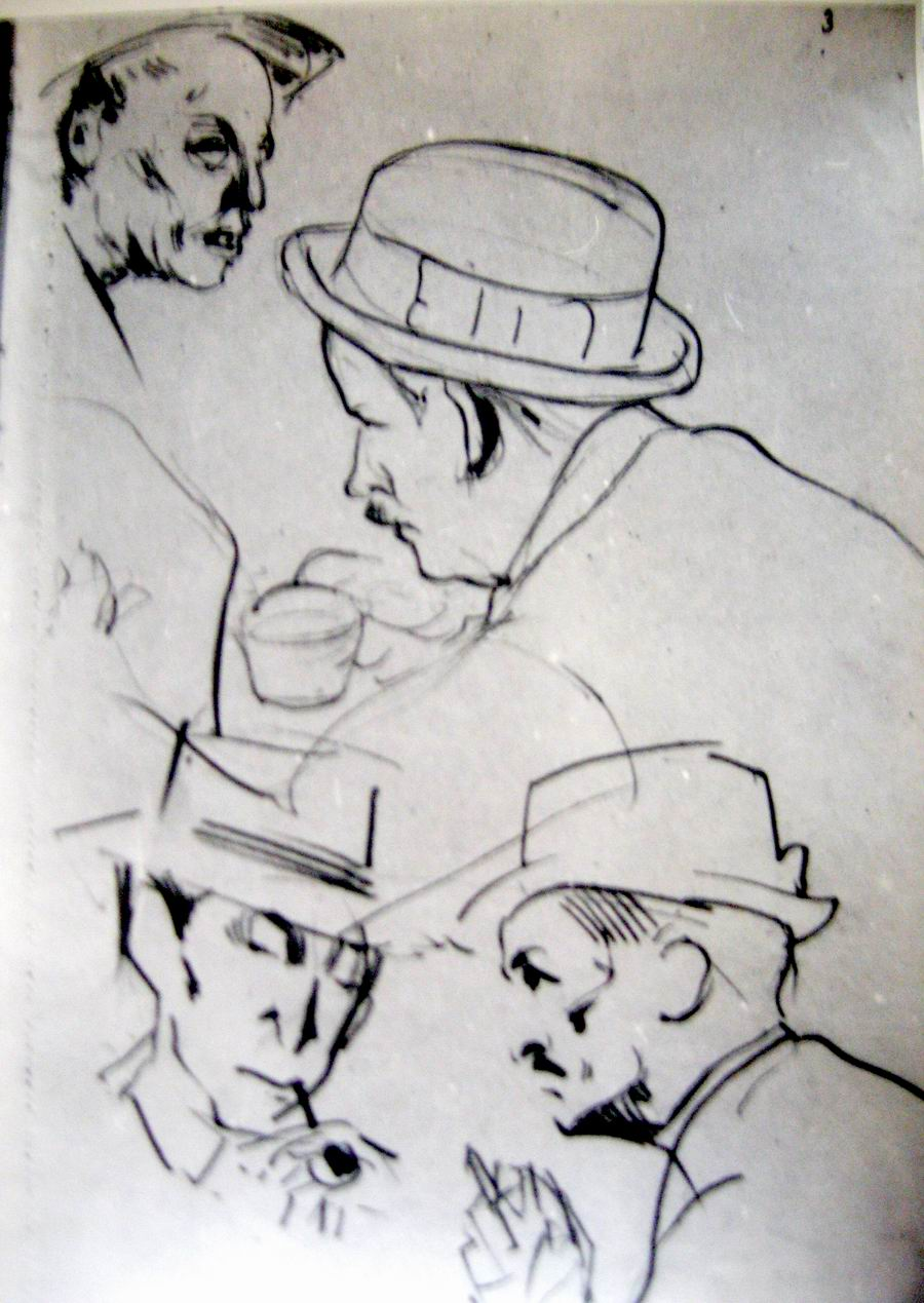 pencil on paper, 1918-1921