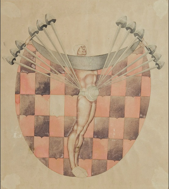 paper, pencil, watercolor, 46X40  1933 K.Marjanishvili State Theatre Museum