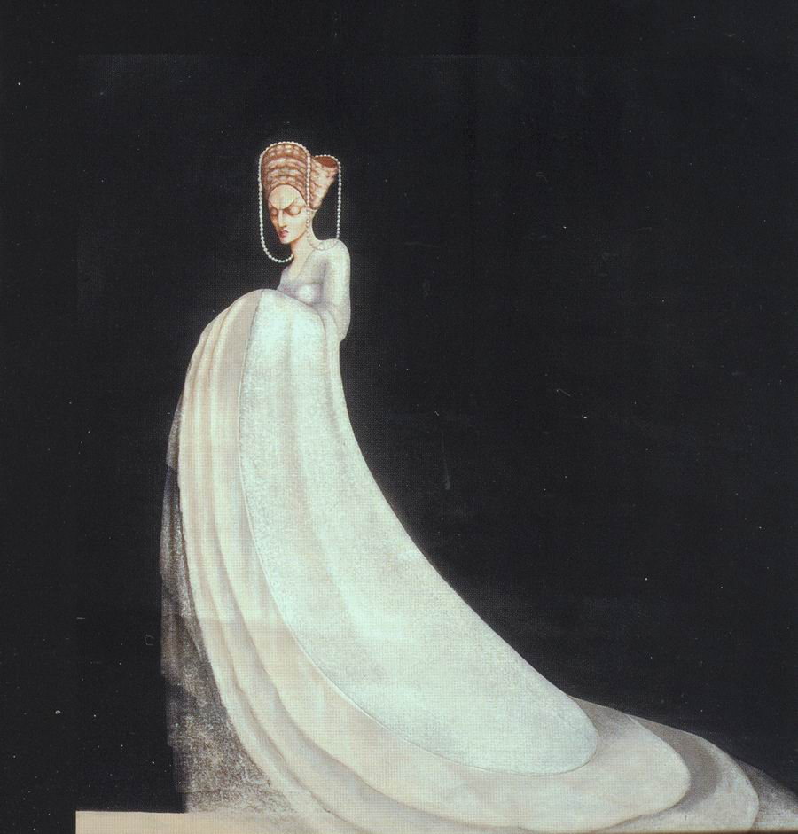 paper, pencil, watercolor, 42X36 1933 State Museum of Drama, Music, Film and Choreography