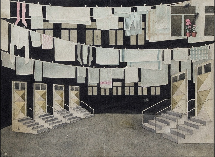 paper, watercolor, gouache, 30x40 1932  State Museum of Drama, Music, Film and Choreography