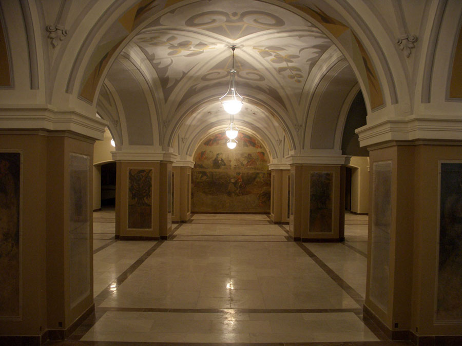 Kimerioni hall after the restoration. Lobby of Shota Rustaveli State Drama Theatre