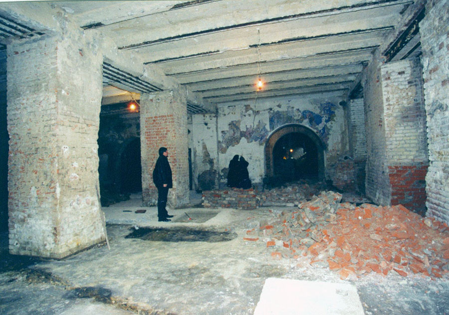 state of the basement and murals in 2002