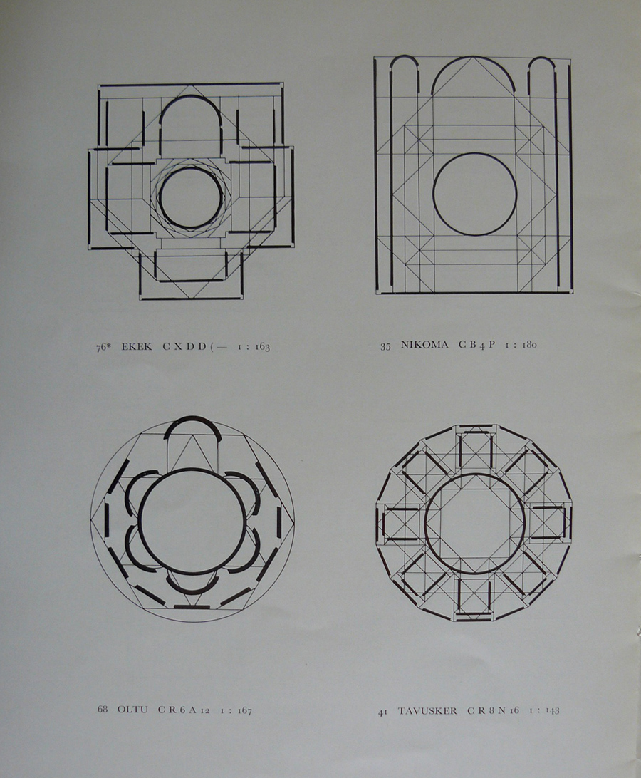 Plans of churches. From Ruy Gonzales de Clavijo  in Georgia. Observations about His Journey from Avnik  to Trabzon in September 1405, 1964